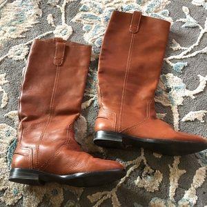 Madewell brown buttery soft below knee boots